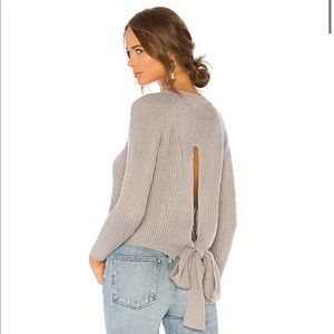 Lover and friends open back sweater